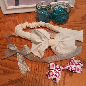 Other - Bow Headband Clip Shiny Sparkle Set